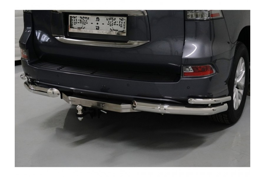 Фаркоп (оцинкованный, надпись Lexus) 120/1500кг (Крюк съёмный/Тип шара E)
