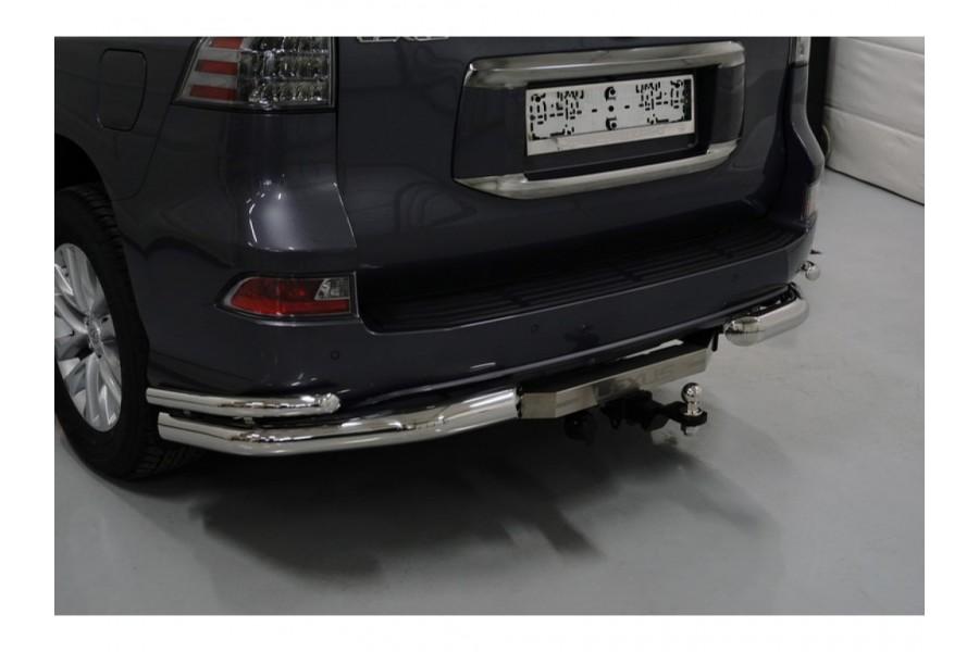 Фаркоп (оцинкованный, надпись Lexus, шар из нерж.стали) 120/1500кг (Крюк съёмный/Тип шара E)