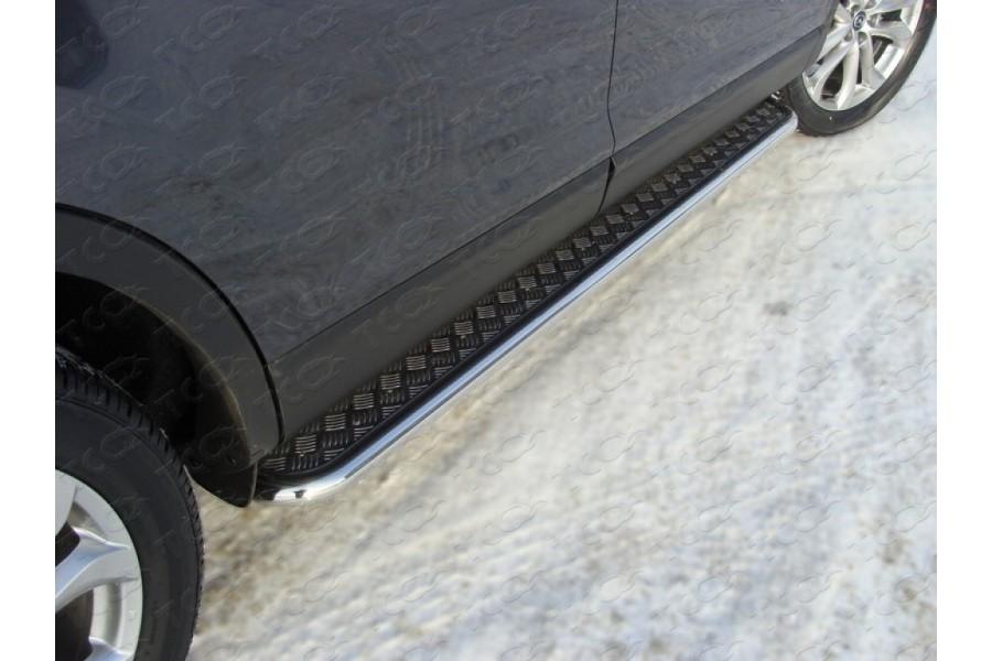 Пороги с площадкой 42,4 мм (алюминиевый лист)