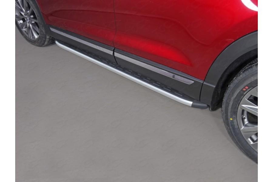 Пороги алюминиевые с пластиковой накладкой 1920 мм