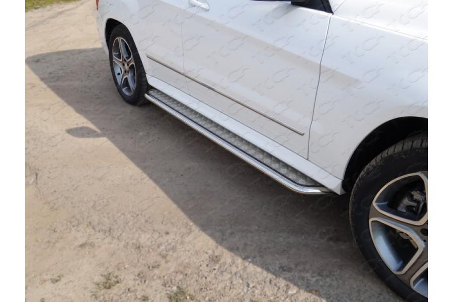 Пороги с площадкой 42,4 мм(алюминиевый лист)