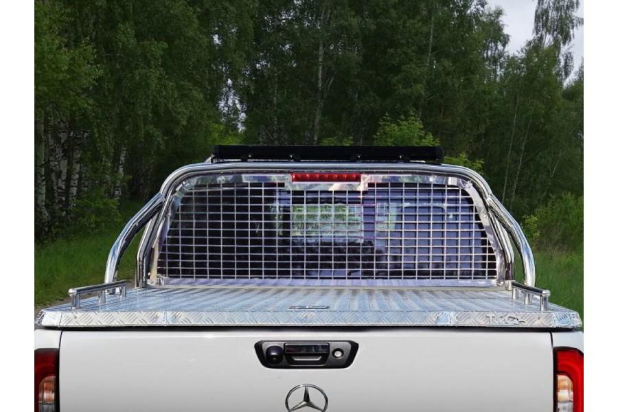 Защита кузова и заднего стекла (для крышки без надписи) 75х42 мм со светодиодной фарой