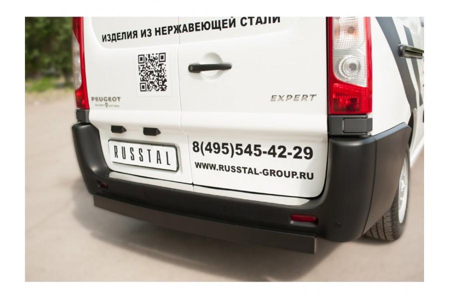 Защита заднего бампера d80х40 (профиль ЧМ)