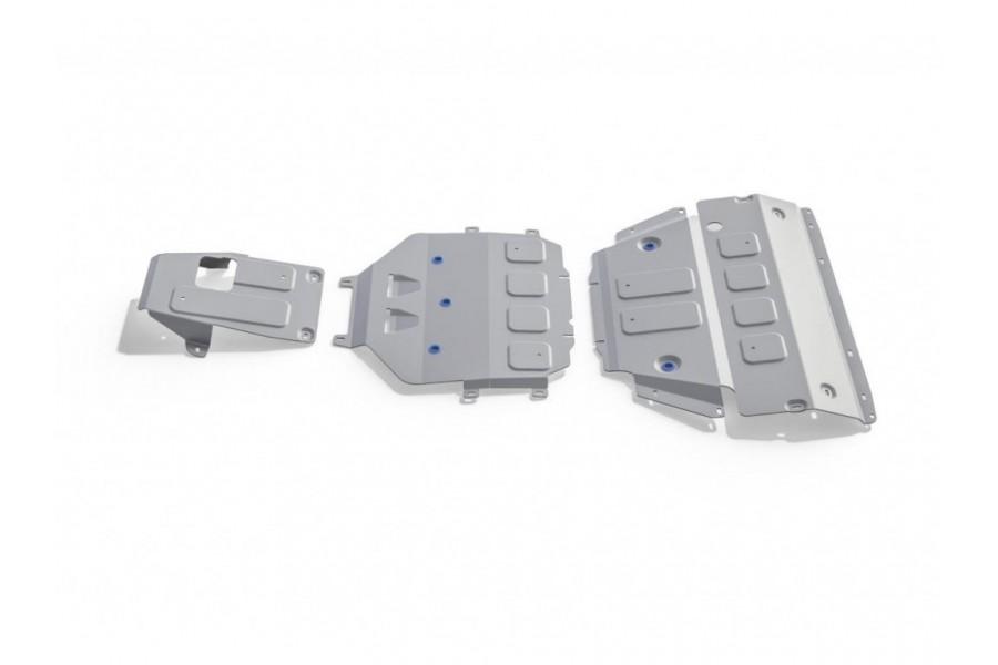 Комплект защит картер+КПП+РК 2.9T 440л.с.; 3.0 340л.с.; 4.0T 550л.с.; Серый