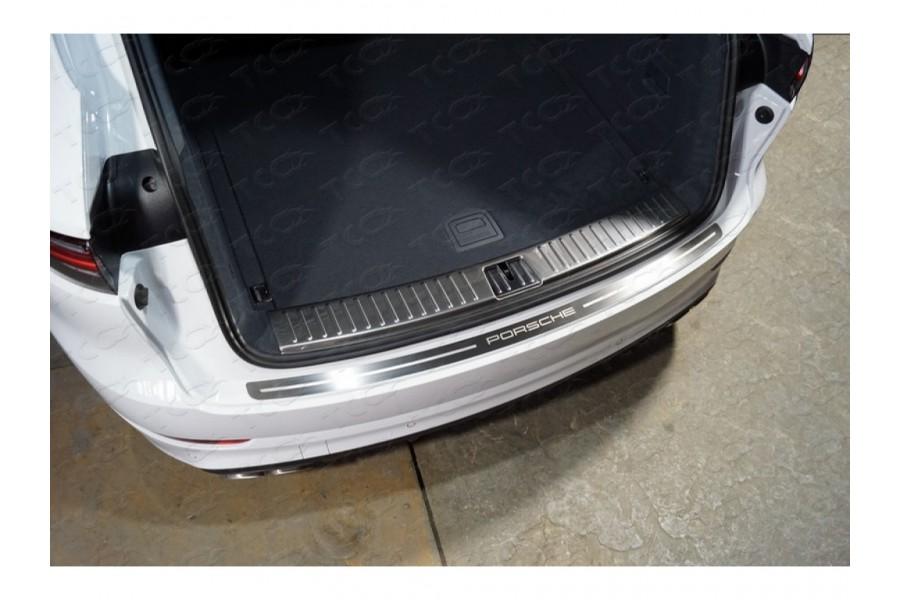 Накладка на задний бампер (лист шлифованный надпись Porsche)