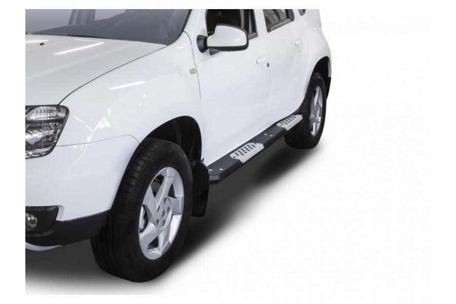 Алюминиевые пороги Renault Duster