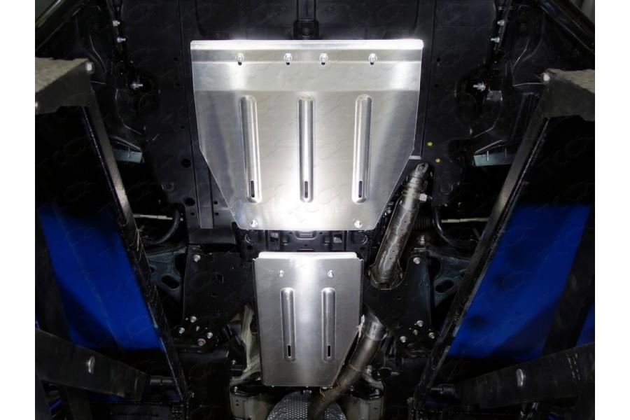 Защиты комплект (алюминий) 4мм (картер большая, кпп, задний дифференциал, бак левый, бак правый)
