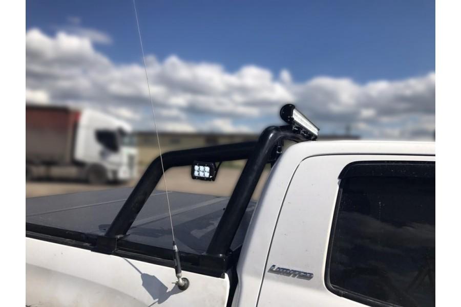 Дуга в кузов d-76, сталь, окрашенная порошковой краской, цвет-черный (для Toyota Tundra CrewMax) возможна установка с жесткой 3-х секционной крышкой кузова