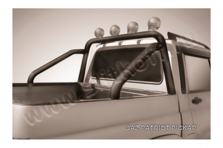 Дуга в кузов d76 с креплениями под ПТФ черная