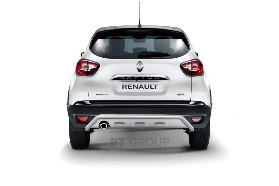 """Защита заднего бампера Ø51мм """"Волна"""" (НПС) Renault Kaptur 2016-"""