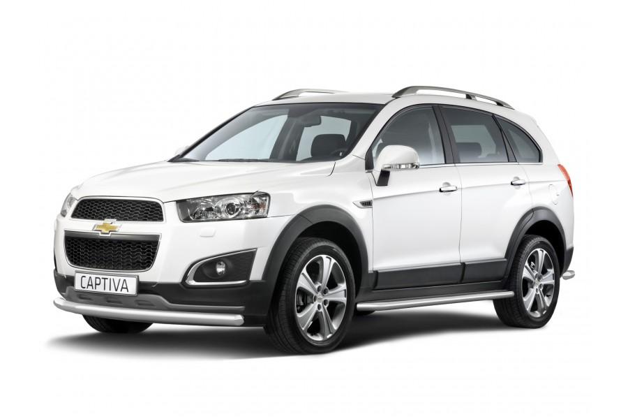 Защита переднего бампера одинарная Ø63мм (НПС) Chevrolet Captiva 2013-