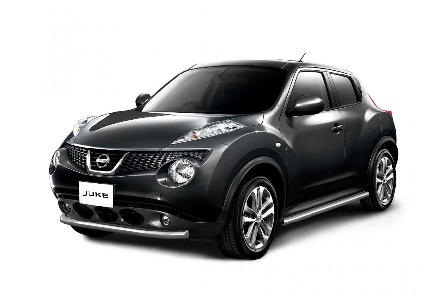 Защита переднего бампера одинарная Ø63мм (НПС) Nissan Juke 4х4 2011-2014