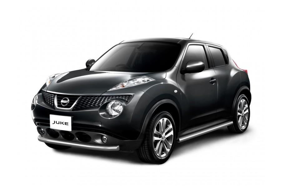 Защита порогов прямая Ø51мм (НПС) Nissan Juke 4х4 2011-2014