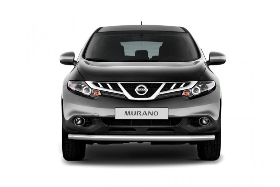 Защита переднего бампера одинарная Ø63мм (НПС) Nissan Murano 2009-2013