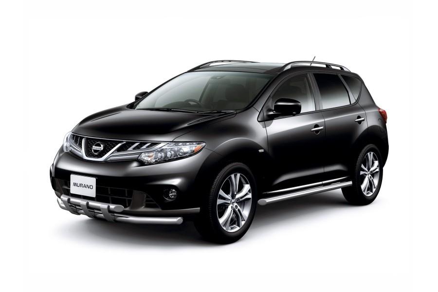 Защита порогов прямая Ø63мм (НПС) Nissan Murano 2009-2013