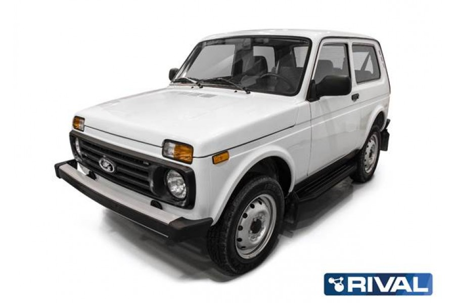 "Lada Niva 3D 1977- Порог-площадка "" Premium -Black"""