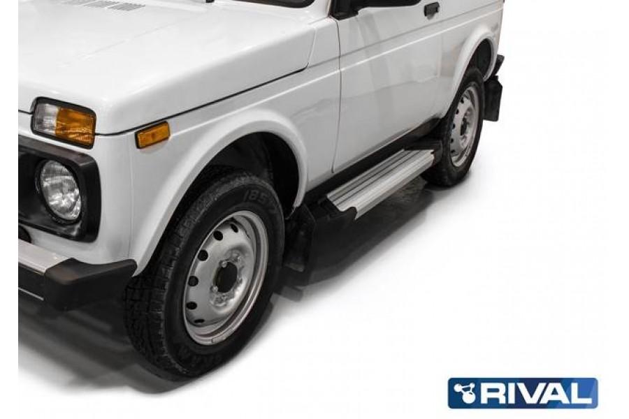 "Lada Niva 3D 1977- Порог-площадка ""Silver"""