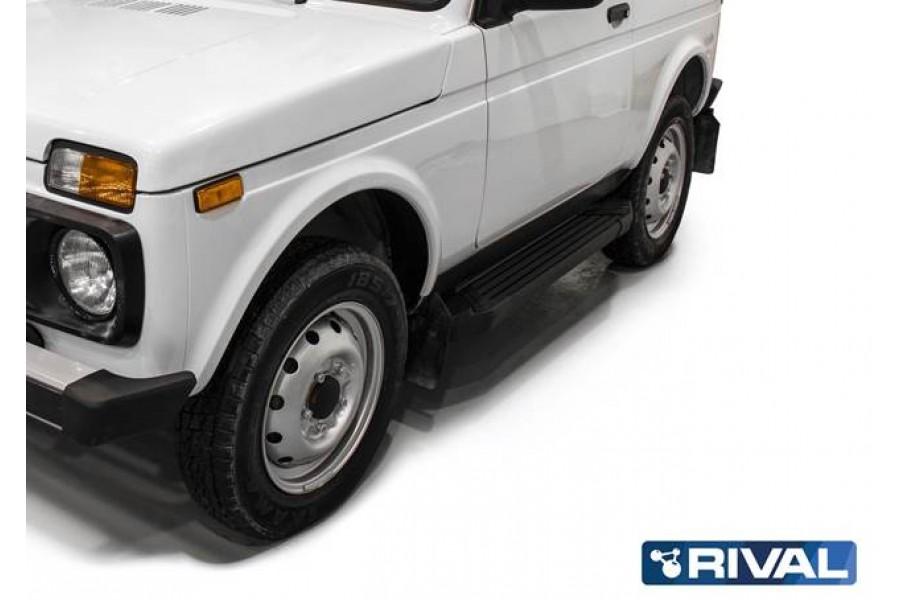 "Lada Niva 3D 1977- Порог-площадка ""Black"""