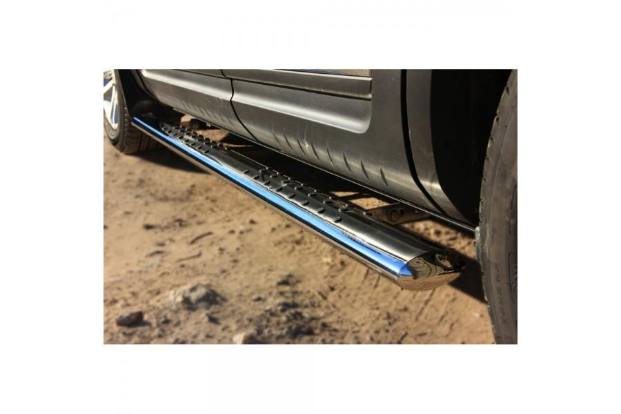 Ford Explorer 2012 Пороги труба d120x60 с проступью FEО-001314