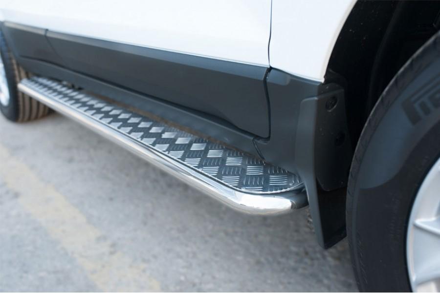 Ford Ecosport 2014- Пороги труба d42 с листом