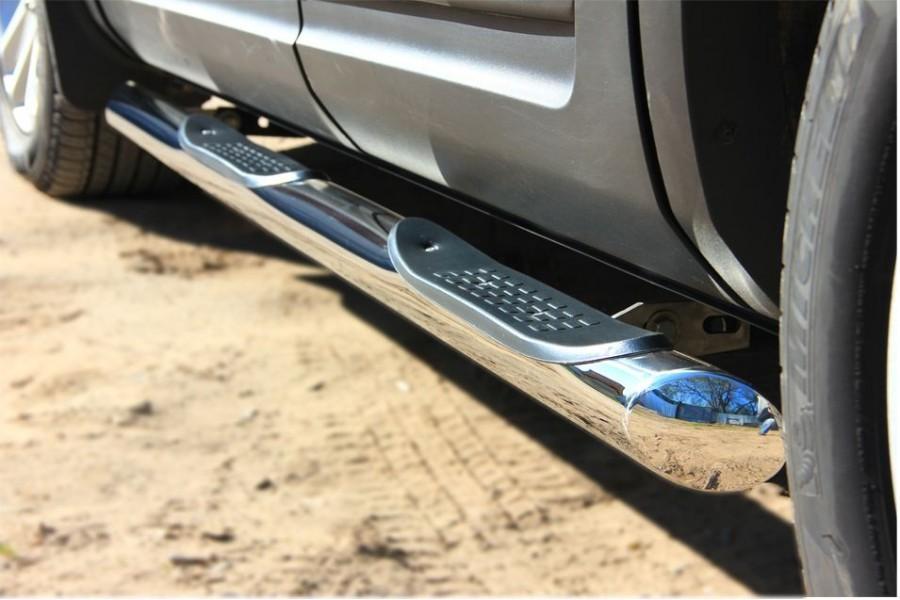 Ford Explorer 2012 Пороги труба d76 с накладкой (вариант 1) FET-0013131