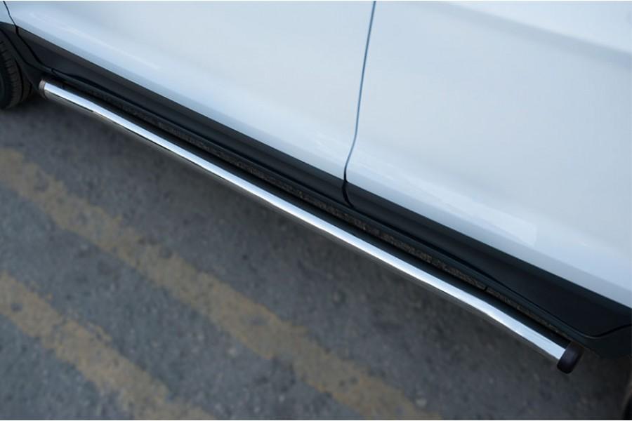 Ford Ecosport 2014- Пороги труба d63 (вариант 2)