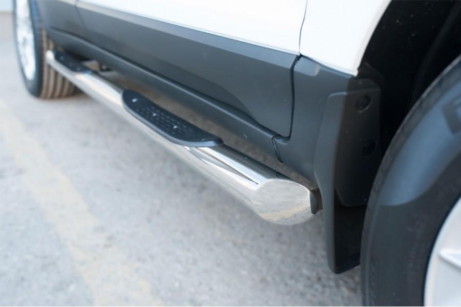 Ford Ecosport 2014- Пороги труба d76 с накладкой (вариант 1)