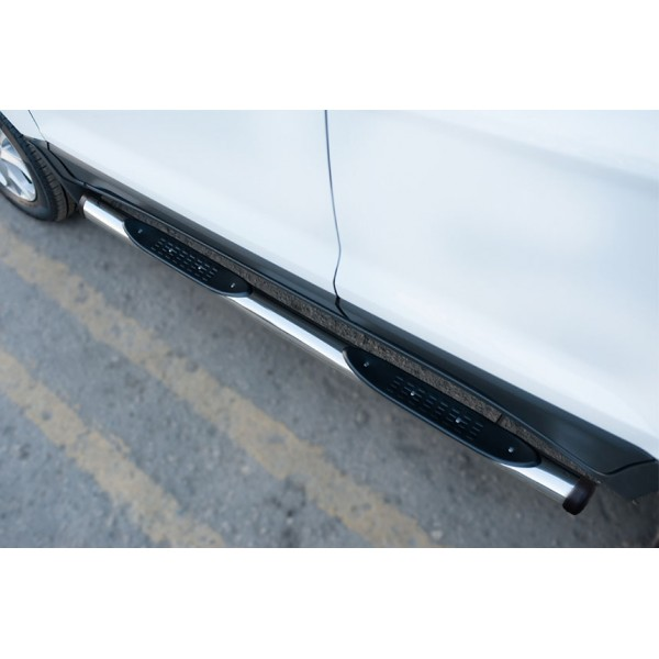 Ford Ecosport 2014- Пороги труба d76 с накладкой (вариант 2)