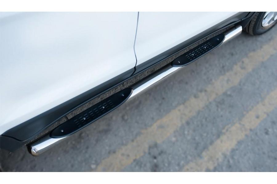 Ford Ecosport 2014- Пороги труба d76 с накладкой (вариант 3)