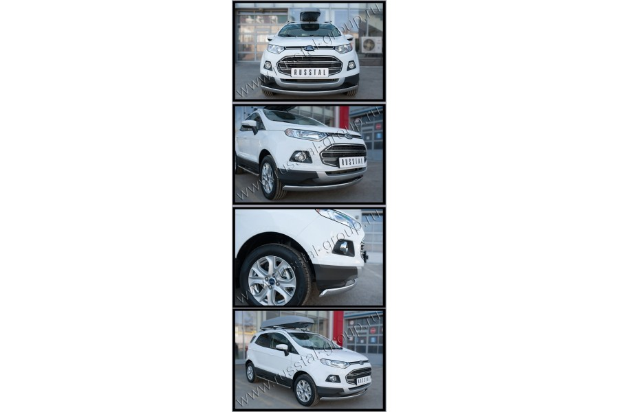 Ford Ecosport 2014- Защита переднего бампера d75х42 (дуга)