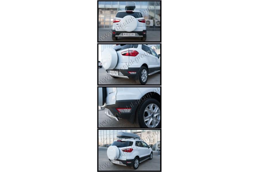 Ford Ecosport 2014- Защита заднего бампера d75х42 (дуга)