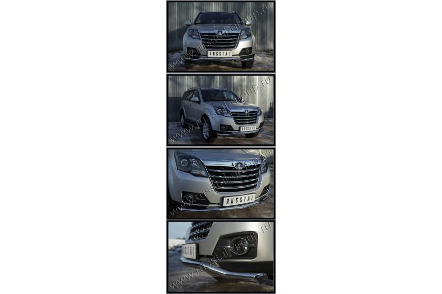 Great Wall Hover H3 2014- Защита переднего бампера d63 (волна) (Турбодизель) GWH3Z-0019351