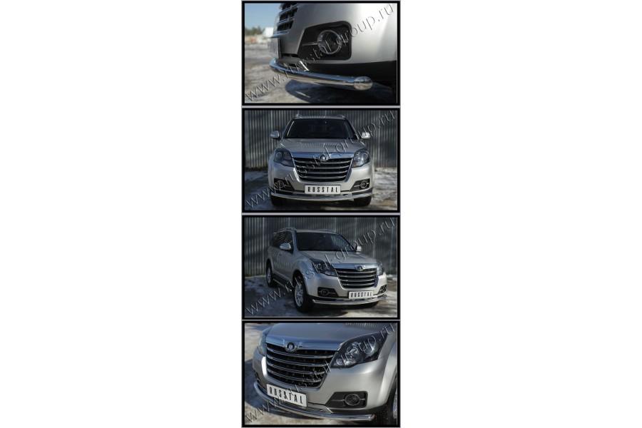 Great Wall Hover H3 2014- Защита переднего бампера d63 (дуга) (Турбодизель) GWH3Z-0019371