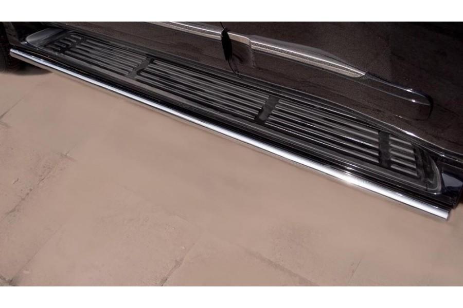 Lexus GX460 2009-2012 Пороги труба d42 (вариант 3) GXT-0008063
