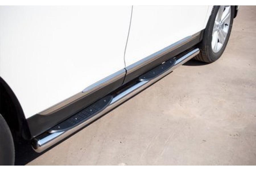 Honda CR-V 2010-2012 пороги труба d76 с накладками (вариант 3) HNT-0002293