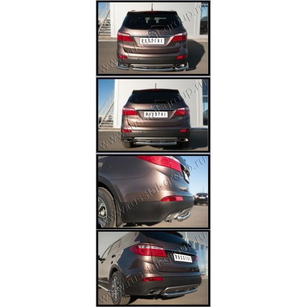 HYUNDAI SANTA FE GRAND 2014 Защита заднего бампера d63 (дуга) HSFZ-002012
