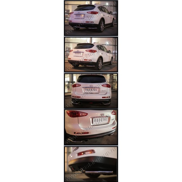 Infiniti QX 50 2014- Защита заднего бампера уголки d42 (секции) IQXZ-001971