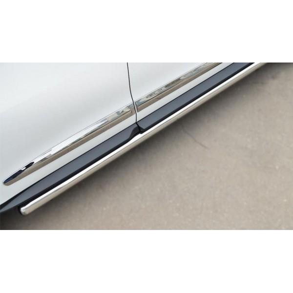 INFINITI JX35-QX60 2013- Пороги труба d76 с накладкой (вариант 3) (Гибрид) JXT-00146231