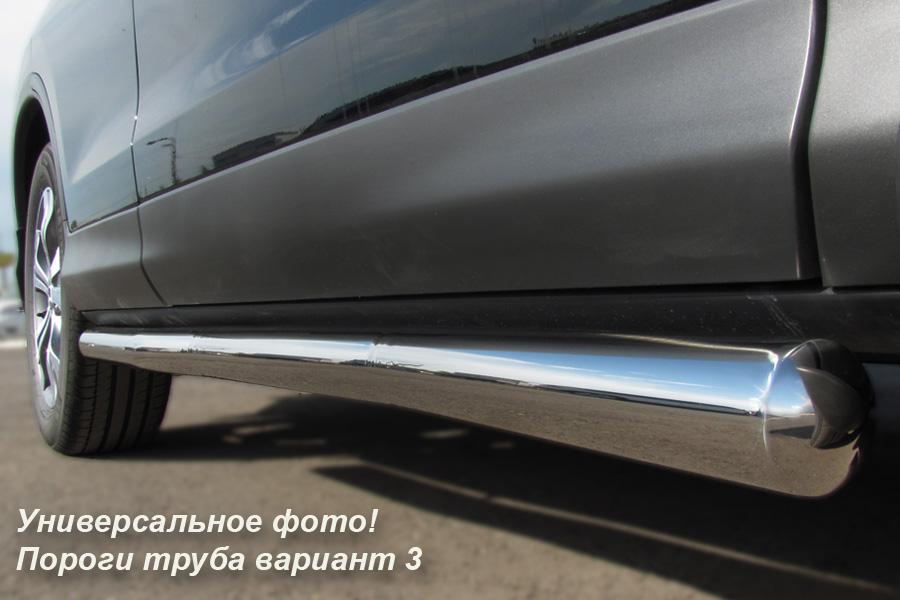 KIA Sorento 2006-2009 Пороги труба d63 (вариант 3) KST-0000103