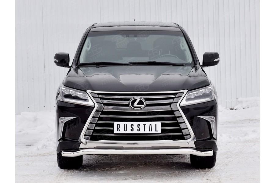LEXUS LX450d-LX570 2015 (кроме F-Sport) Защита переднего бампера d63 волна LLX4Z-002511