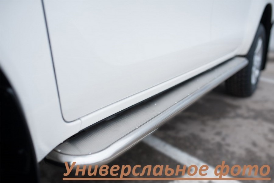 Lexus NX 200t F Sport 2015 Пороги труба d42 с листом (вариант 3)