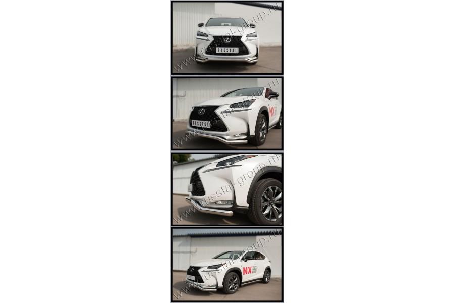 Lexus NX 200t F Sport 2015 Защита переднего бампера d63 (волна) LNXZ-002138