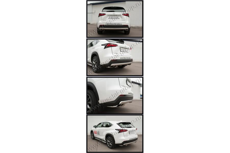 Lexus NX 200t F Sport 2015 Защита заднего бампера d75х42 (дуга) LNXZ-002143