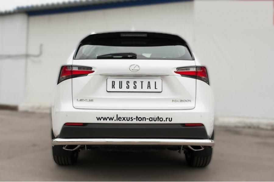 Lexus NX 200t F Sport 2015 Защита заднего бампера d63 (секции) LNXZ-002144