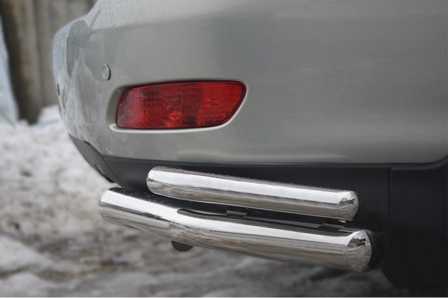 Lexus RX330 2003-2008 Защита заднего бампера уголки d63/42 (Пневмоподвеска) LRZ-0003911