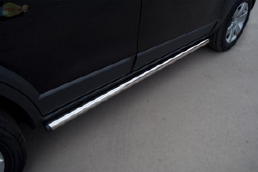 Mitsubishi ASX 2010-2011 пороги труба d63 (вариант 2) MAT-0007252