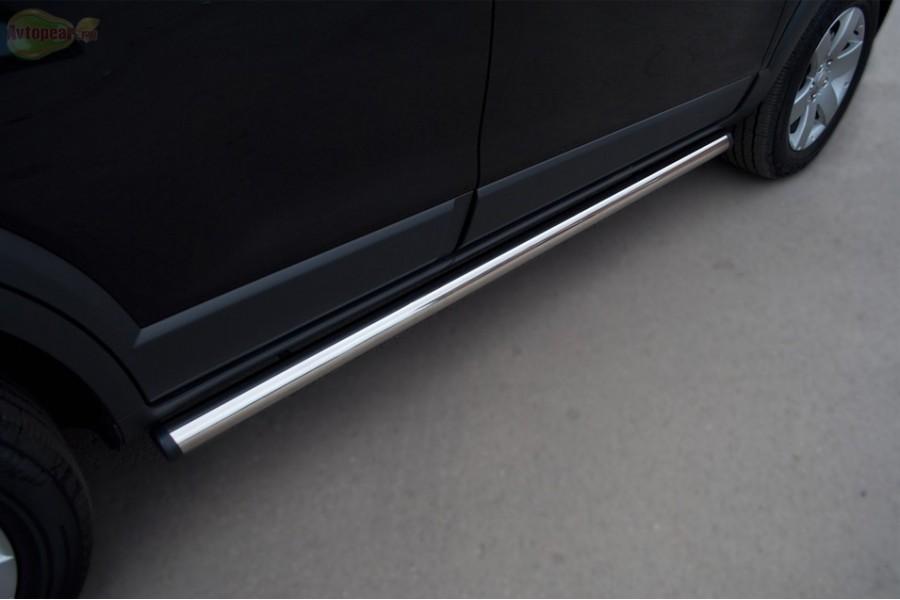 Mitsubishi ASX 2010-2011 Пороги труба d76 (вариант 2) MAT-0007272