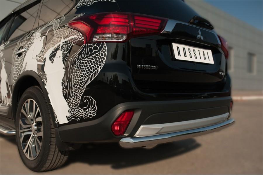 Mitsubishi Outlander 2015- Защита заднего бампера d63 (дуга) MOZ-002113