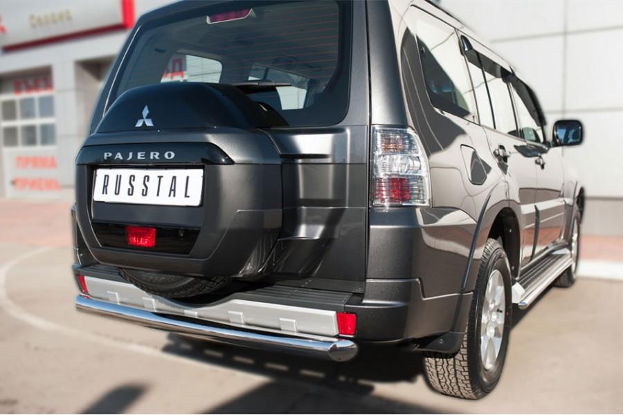 Mitsubishi Pajero 4 2014- Защита заднего бампера d76 (дуга)