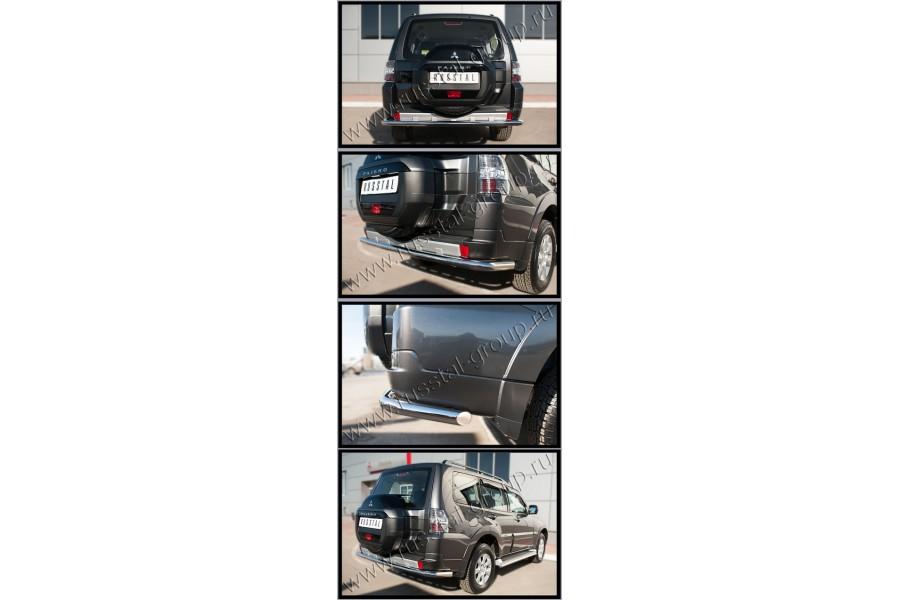 Mitsubishi Pajero 4 2014- Защита заднего бампера d63 (секции)